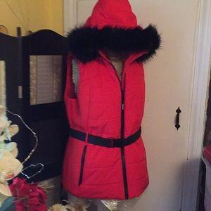 MK vest; lined with soft black fur: brand new!!!!